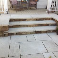 Divided Risers Limestone Treads/Native Risers
